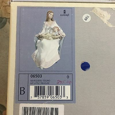 "Lladro My Little Treasure #6503 Figurine Mother & Baby, ""mint"", In Original Box"