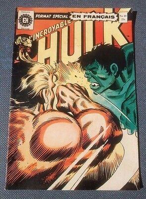 Hulk #40 Heritage Comic French 1974 Key Date ( Incredible Hulk #181 Wolverine )
