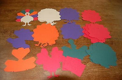 Turkey paper coutouts in several colors
