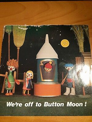 "We're Off To Button Moon Vintage 7"" Vinyl Record Single"