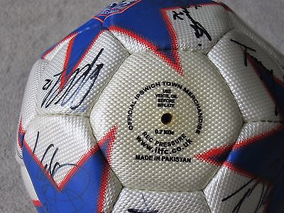 Ipswich Town signed football ,do not know year ?? lots of photos