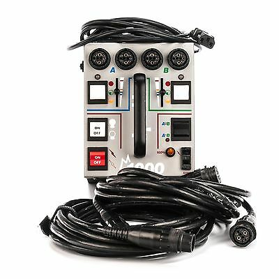 Dyna-Lite M1000 Power Pack with 2 Extension Cords and 12ft A/C Power cords