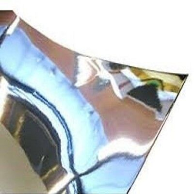 1mm Silver Mirror HIPS High Impact Polystyrene Sheet 7 SIZES TO CHOOSE