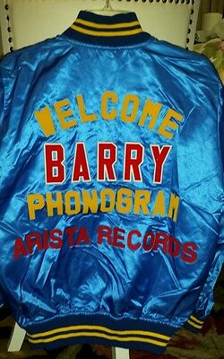 New VINTAGE Barry Manilow Tour Jacket from Toyko Japan Size: Adult Med