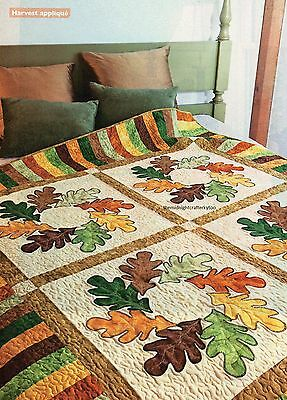 Autumn Wreath Quilt Pattern Pieced/Applique CT