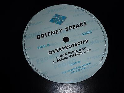 "BRITNEY SPEARS Overprotected I'm A Slave 4 U UK PROMO 12"" VINYL RECORD RARE MIX"