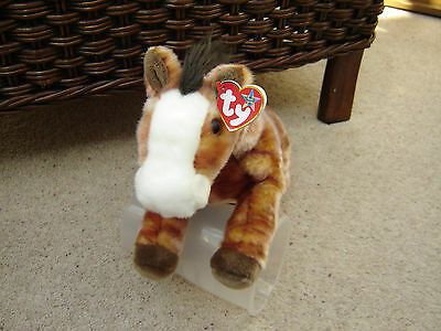 Ty Beanie BUDDY OATS Lovely Horse Pony Soft Plush Toy Collectible MWMT