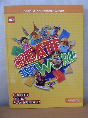 LEGO Create The World Official Collector's Album New Book For Sainsbury's Cards