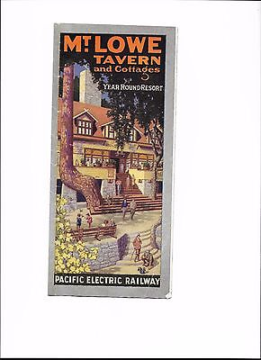 Mt. Lowe Tavern & Cottages, Pacific Electric Railway, 1927 Brochure