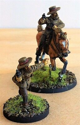 28mm Colonial, Zulu wars, Iregular Horse , officers, Painted