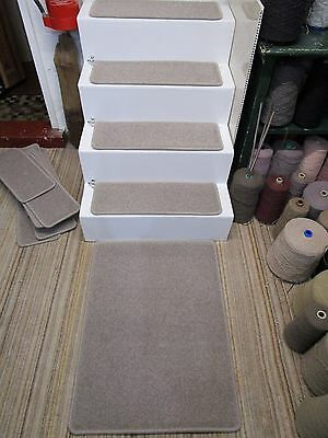 14 Luxury LARGE grey 64cm x 22cm stair pads treads + mat 64cm x 85cm 80/20 wool