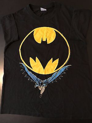 Vintage 80s 1988 Batman T-Shirt Cartoon Marvel TV Movie Superhero Joker