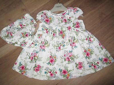 Next Baby Girls Dress Set Age 0-3 Months Pretty Summer Please Look