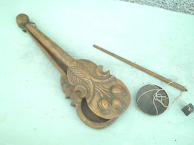 Antique  Vintage Chinese Wooden Carved Opium Measuring Scales