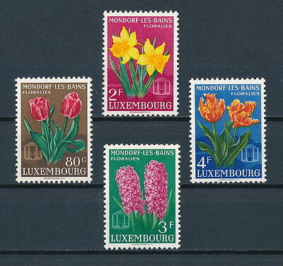 Luxembourg 300-3 MNH, Flowers, 1955