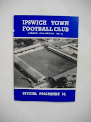 Ipswich Town v Derby County Division 2 1965/66 programme