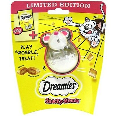 Premium DREAMIES Snacky Mouse with Cat Treats with Cheese 60g - Animal Treats