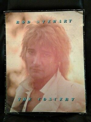 Vintage 1977 Rod Stewart The Concert Tour Program Book Rare Madison Square Garde
