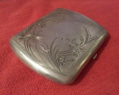 IMPERIAL RUSSIAN ANTIQUE SILVER GILT ENGRAVED CIGARETTE CASE KHLEBNIKOV 136gr