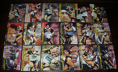 WESTERN REDS Full set of 18 Cards ~Series 1 & 2 ~ 1996 Dynamic Rugby League