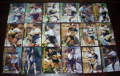 COWBOYS Full set of 18 Cards ~ Series 1 & 2 ~1996 Dynamic Rugby League