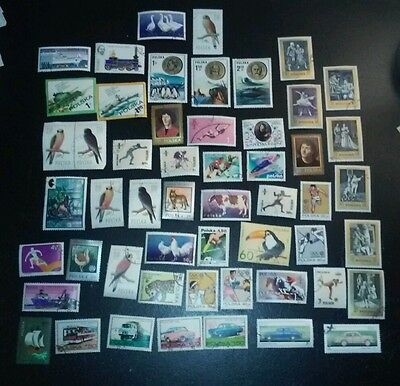 52 x Poland Stamps