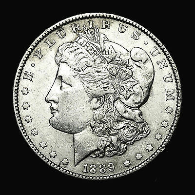 1889 P ~**ABOUT UNCIRCULATED AU**~ Silver Morgan Dollar Rare US Old Coin! #632