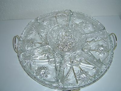 9 pc Anchor Hocking Star of David Turntable Lazy Susan