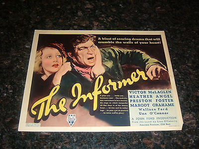 "THE INFORMER Original Title Lobby Card, 11"" x 14"", C7 Fine/Very Fine Condition"