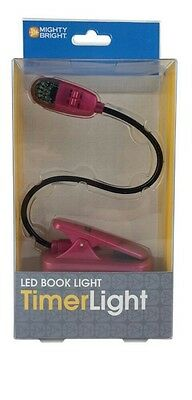Mighty Bright  * Led Booklight Timer Light: Pink *FREE SHIPPING ******