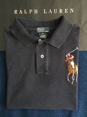 Polo Ralph Lauren boys short sleeve Big Pony cotton polo shirt, blue, size 10-12