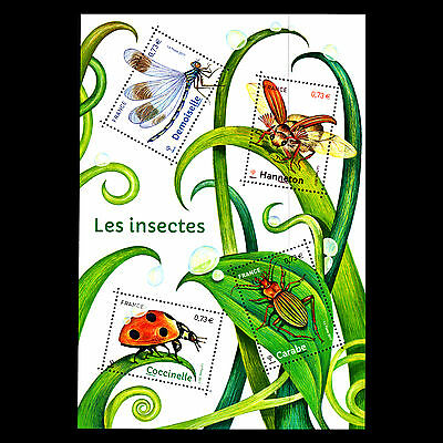 """France 2017 - Insects """"Coccinelle"""" s/s - Sc 5238 MNH"""