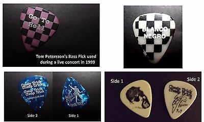 """4 Cheap Trick Picks! Tom Petersson Rare """"go To Hell"""" & """"blanco"""" & 2 Rick Nielson"""