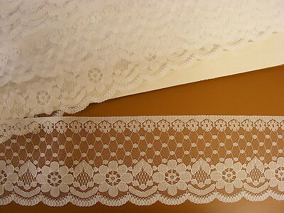 White Flat Lace  (2231)  65mm wide  20 meters