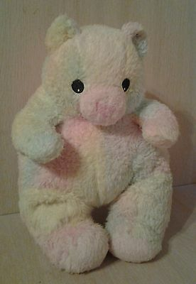 Vintage Rare Ty Bearbaby teddy Bear Rattle Pastel Ty-Dye For all ages