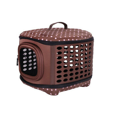Ibiyaya Collapsible Traveling Hand Carrier for Cat or Small Dog - Brown