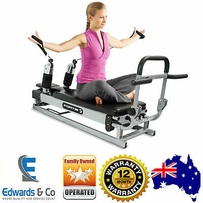 Pilates Machine Reformer Home Gym Workout Fitness Strength Trainer Leg Arms
