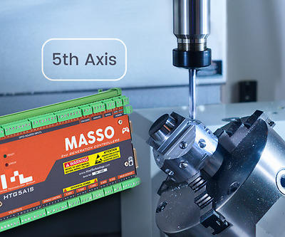 MASSO Mill 5 Axis, Easy setup CNC Controller with Software, No PC Needed