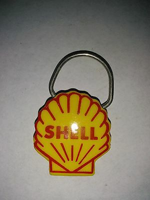 Vintage Shell Oil Gas Key Chain Ring DENTONS SHELL SERVICE SEATTLE WA.