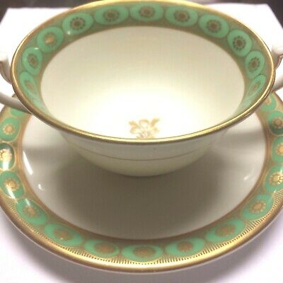 Antique Reproduction of Early Royal Worcester Plymouth Bouillon Cup & Saucer