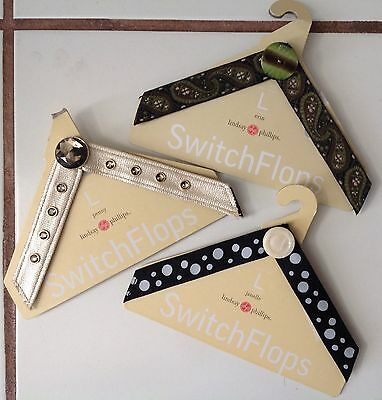 NEW Lot of 3 Switch-Flops Straps Lindsay Phillips Size Large 9-10-11