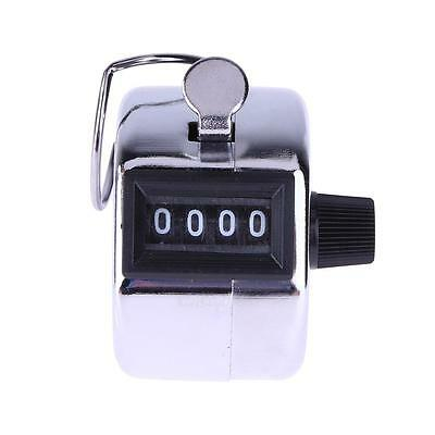 Digital Hand Held Tally Counter 4 Digit Number Manual Counting Golf Clicker New