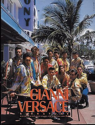 1993 Gianni Versace Miami Men Signature Fashion Print Ad Naked Obsession Reverse