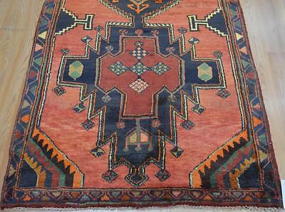 3'5 x 9'6 Plush Genuine Semi Antique Persian Tribal Hand Knotted Wool Runner Rug