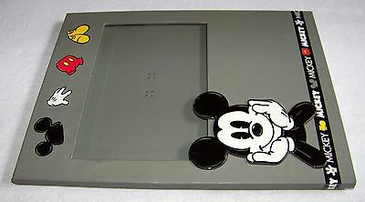"DISNEY 4"" X 6"" PICTURE FRAME MICKEY MOUSE with Glass Gray"