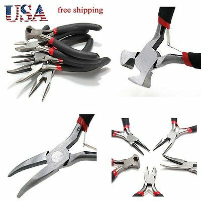Lot Jewelers Pliers Set Hobby Plier Kit Jewelry Making Beading Wire Wrapping Hl1