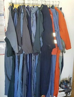 Pre Owned Men's Coveralls, Sizes Small (36) - 4XL (66), 100% Cotton & Polyester