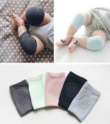 Infant Baby Toddler Anti-slip Safety Crawling Cushion Knee Pad Soft Cotton 0-2Y