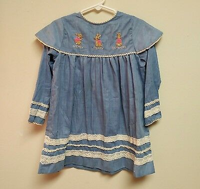 Kate Greenway Girls Vintage Flopsy Mopsy Cotton-tail Dress, 5