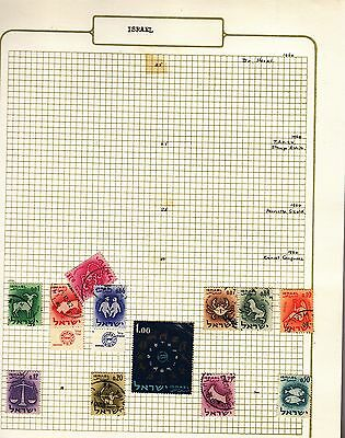 ISRAEL  on album page stamps removed for shipping(l)